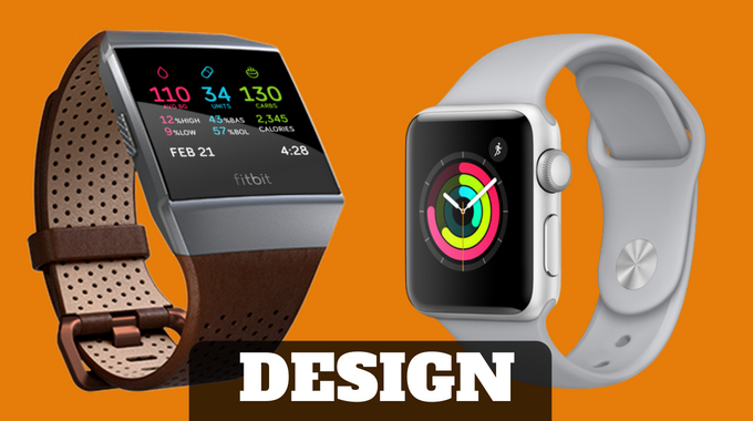 Fitbit Ionic vs Apple Watch SERIES 3 review design 2018 -usafitnesstracker.com