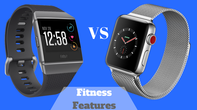 Fitbit Ionic vs Apple Watch SERIES 3 review fitness features-usafitnesstracker.com