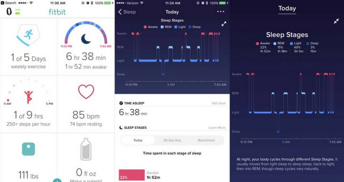 Fitbit Alta HR review sleep-stages-usafitnesstracker.com